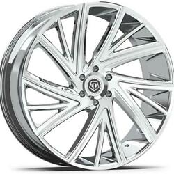 (4) 22x9 Chrome TIS TIS546 546V 5x4.5 38 Nitto Trail Grappler 35x12.5R22 Rims T