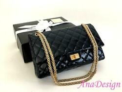 Authentic Chanel Classic 2.55 Reissue 226 Double Flap Crossbody Messenger Bag