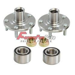 Front Wheel Hubs And Bearings Kit Left And Right Pair Set For Honda Acura Accord Cl