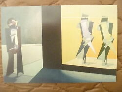 Postcard...midnight In The Empire Of Credit...modernist Figures..art..new/mint