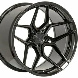 22 Staggered Rohana Rfx11 22x9 22x10.5 Black Concave Wheels Rims Forged