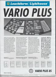 8 Rows Lighthouse Black Vario Plus 8s Stamp Pages Strong Film Sheets Pack Of 5