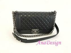 Chanel Black Medium Crossbody Messenger Bag RHW wAuthenticity Certificate