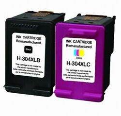 Remanufactured 304 Xl Black And Colour Ink Cartridge Combo Fit Hp Deskjet 2632