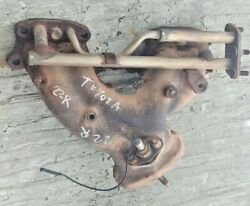 89 90 91 92 93 94 Toyota Pickup 4runner Exhaust Manifold 22r Re Rec 2.4 W/ Pipe