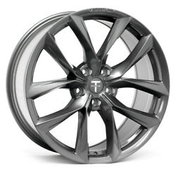 """Tesla Model S 20"""" Tss Flow Forged Wheel In Space Gray By T Sportline - Staggered"""