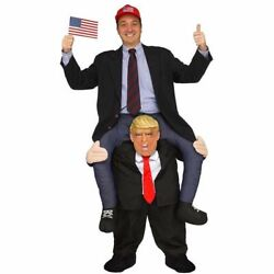 Funny Ride On Trump Mascot Costume Adult Size Piggy Back Costume Halloween Gift