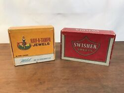 Hav-a-tampa Jewels And Swisher Sweets Vintage Cigar Boxes Set Of 2 Hd25