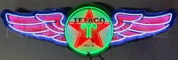 5and039 Texaco Wings In Steel Can Neon Sign