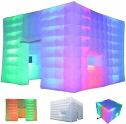 Outdoor Inflatable Led Tent Air Cube With Customized Door And Window For Party