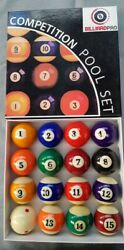 2 1/457mmcompetition Spots Stripes American Size Pool Balls Red Spot Cue Ball