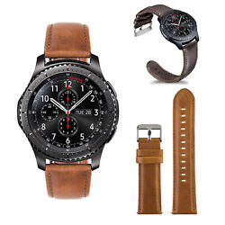 For Gear S3 S2 Classic/galaxy Active Leather Band Quick Release Strap With Clasp