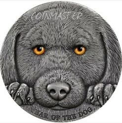 2018 3 Oz Silver 3000 Francs Cameroon Chinese Lunar Year Of The Dog Coin.