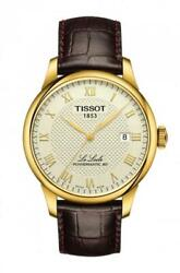 Tissot Le Locle Powermatic 80 Ivory Gold Dial Men's Watch T006.407.36.263.00
