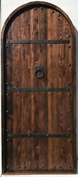Rustic reclaimed lumber arched door solid wood story book  U CHOOSE SIZE COLOR