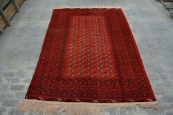B2189 Handmade Afghan Best Mour Gull Area Rug/ Hand Knotted Vintage Rug 6and0398 X 10