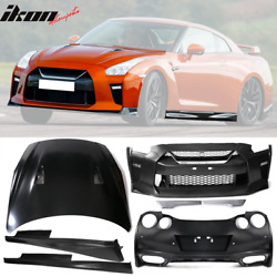 Fits 09-18 R35 GTR to 17+ MY17 Front & Rear Bumper & Hood Cover & Side Skirts