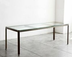 Large Angle Iron Industrial Conference/ Dining Table, Custom Made To Order