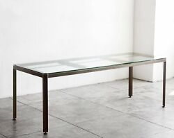Large Angle Iron Industrial Conference/ Dining Table Custom Made To Order