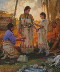 Wedding Preparations By Martin Grelle Giclee On Ganvas Signed And Numbered 36x30