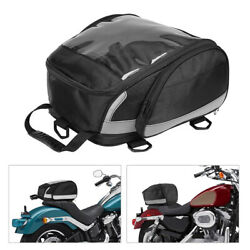 Motorcycle Bike Rear Bag Helmet Bag Tail Bag Saddle Bag Seat Luggage Backpack