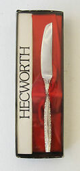 Vintage Hecworth Silverplate Butter Spreading Knife Floral My Lady Design Boxed