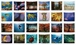 20 pieces wall hanging art tree turtle fish seashell nature tapestries