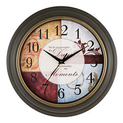 84601 Equity by La Crosse 11.25quot; Indoor Analog Wall Clock with Inspiration Dial