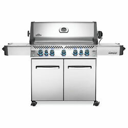 Napoleon Prestige 665 Natural Gas Grill On Cart With Infrared Rotisserie And Sid