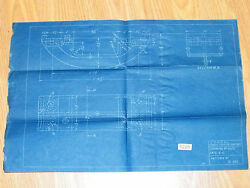 Central Railroad New Jersey Railroad Blueprint Tender Coupler Support Crr Of Nj
