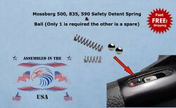 Replacement Mossberg 500 835 590 Safety Detent Spring + 2 Detent Balls 1 Spare