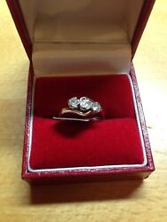Vintage Diamond 3 Stone Ring In Size J Rrp Andpound2000