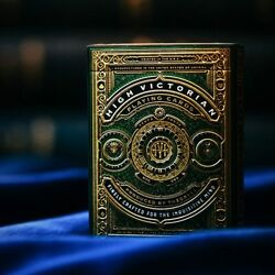 High Victorian Playing Cards Limited Edition Green And Gold Foil Deck By Theory11