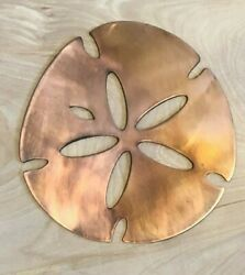 Sand Dollar Wall Metal Art Hanging with Rustic Copper Finish