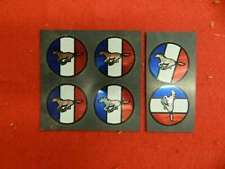 6 New 60and039s 70and039s 80and039s Mustang Wheelcover Spinner Center Appliques Decals Emblems