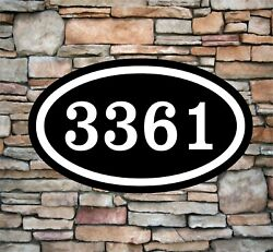 Personalized Home Address Sign Aluminum 12 X 7 Custom House Number Plaque Ov4