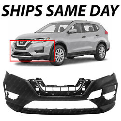 New Primered Front Bumper Cover With Textured Lower For 2017-2020 Nissan Rogue