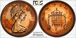 1971-1p Great Britain Bu Pcgs Pr64rd New Penny Beautiful And Toned Proof