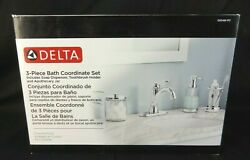 Delta 3-piece Bathroom Countertop Accessory Kit In Polished Chrome