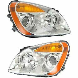 Headlight Set For 2010-2012 Kia Rondo Driver and Passenger Side w bulb