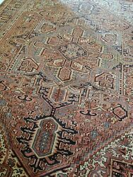 10 x13 or 9.8 x 13 ANTIQUE TOP QUALITY SERAPI PERSIAN HERIZ RUG VINTAGE
