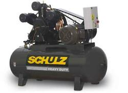 New 5hp Schulz V And W Air Compressor Two Stage Elec 1 Ph 230 Vlt 580hv20x-1