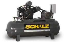 New 10hp Schulz V And W Air Compressor Two Stage Elec 3 Ph 230 Vlt 10120hw40x-3