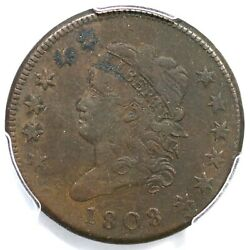 1808 S-277 R-2 Pcgs Vf 30 Classic Head Large Cent Coin 1c