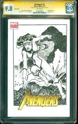 Cgc Ss 9.8 Avengers 1 Spider Woman Sketch By Tony Dezuniga Marvel Spider-woman