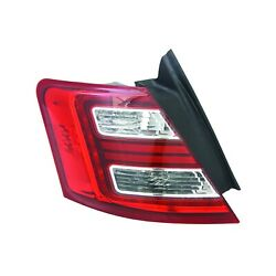 Aftermarket Replacement Driver Side Outer Tail Light Assembly NSF 166-2443