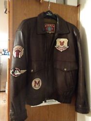 Disney Leather Bomber rare find.  Never worn S M. Purchased at WDW employee sale $345.00