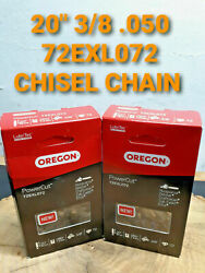 20 72exl072 2 Pack Oregon 3/8 .050 Jonsered 2258 2260 Chisel Chainsaw Chain
