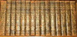 Leather Setbook Of History Children's Encyclopedia Antiquarian Rustic Damaged