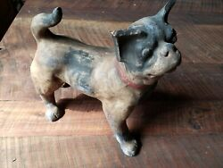 c.1920 Travel Antique Pottery Dog Bank Old Mexico - Boxer Terrier